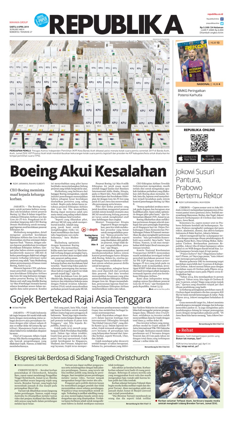 Koran Digital Koran Republika 06 April 2019
