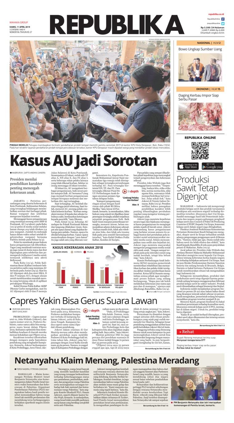 Koran Republika Digital Newspaper 11 April 2019