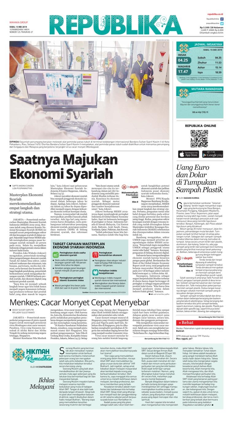 Koran Digital Koran Republika 15 Mei 2019