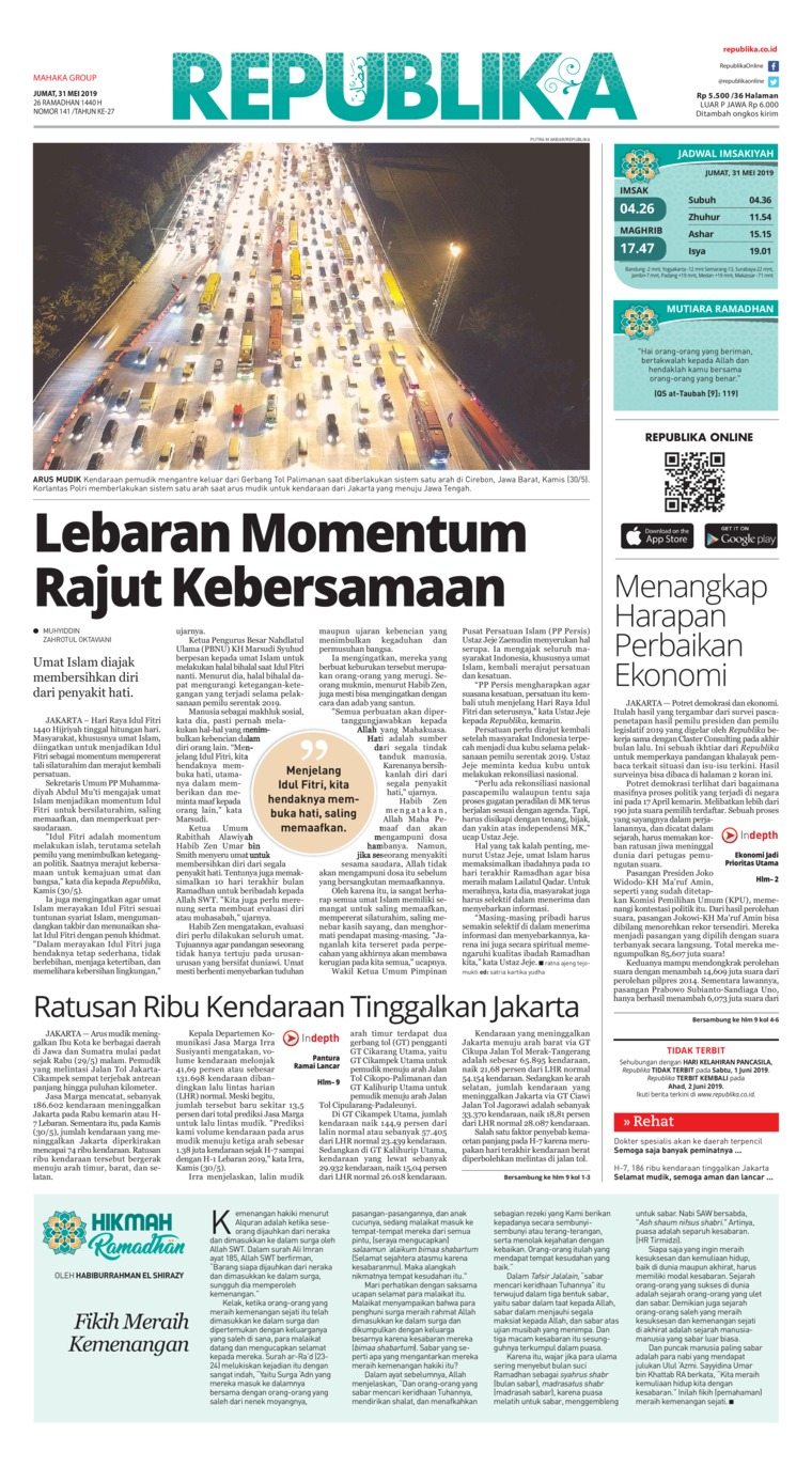 Koran Digital Koran Republika 31 Mei 2019