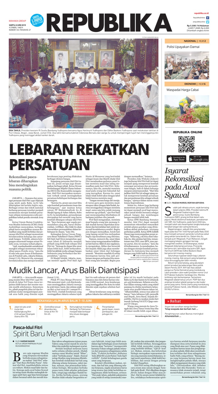 Koran Digital Koran Republika 08 Juni 2019