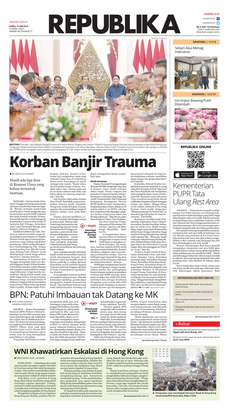 Koran Digital Koran Republika 13 Juni 2019