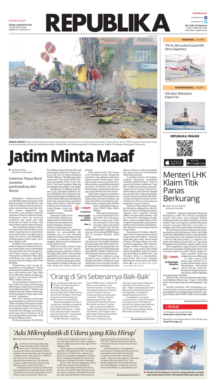 Koran Republika Digital Newspaper 20 August 2019