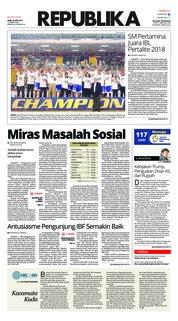 Cover Koran Republika 23 April 2018