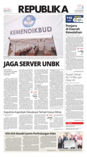 Cover Koran Republika 24 April 2018