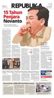 Cover Koran Republika 25 April 2018