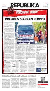 Cover Koran Republika 15 Mei 2018
