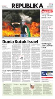 Cover Koran Republika 16 Mei 2018