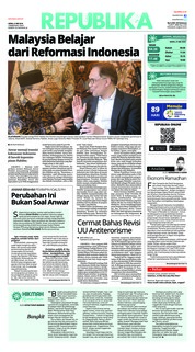 Cover Koran Republika 21 Mei 2018
