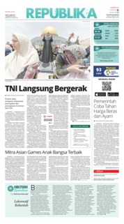 Cover Koran Republika 26 Mei 2018