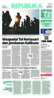Cover Koran Republika 07 Juni 2018