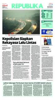 Cover Koran Republika 10 Juni 2018