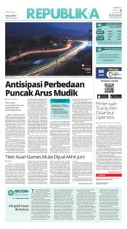 Cover Koran Republika 12 Juni 2018