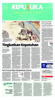 Cover Koran Republika 13 Juni 2018