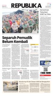 Cover Koran Republika 21 Juni 2018