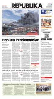 Cover Koran Republika 10 Juli 2018