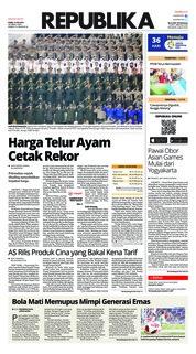 Cover Koran Republika 12 Juli 2018
