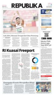 Cover Koran Republika 13 Juli 2018