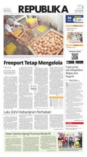 Cover Koran Republika 14 Juli 2018