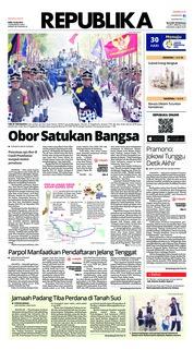 Cover Koran Republika 18 Juli 2018
