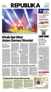 Cover Koran Republika 19 Juli 2018