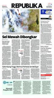 Cover Koran Republika 23 Juli 2018