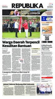 Cover Koran Republika 09 Agustus 2018