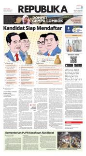 Cover Koran Republika 10 Agustus 2018