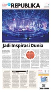 Cover Koran Republika 19 Agustus 2018