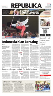 Cover Koran Republika 21 Agustus 2018