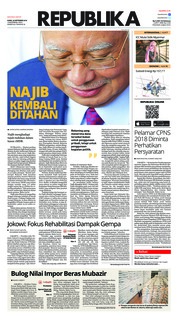 Cover Koran Republika 20 September 2018