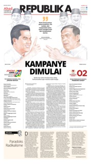 Cover Koran Republika 23 September 2018