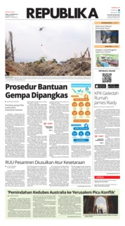 Cover Koran Republika 19 Oktober 2018