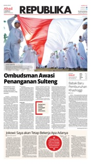 Cover Koran Republika 21 Oktober 2018