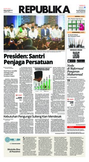 Cover Koran Republika 22 Oktober 2018