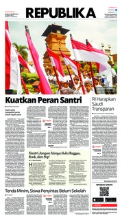 Cover Koran Republika 23 Oktober 2018