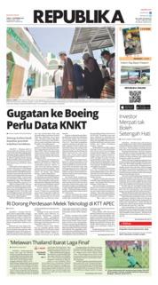 Cover Koran Republika 17 November 2018