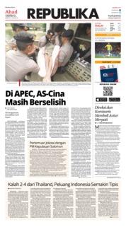 Cover Koran Republika 18 November 2018