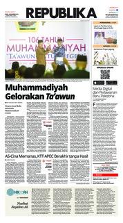 Cover Koran Republika 19 November 2018
