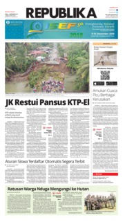 Cover Koran Republika 12 Desember 2018