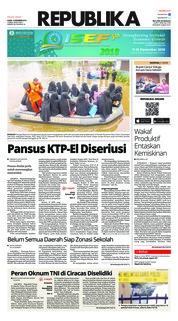 Cover Koran Republika 13 Desember 2018