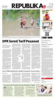 Cover Koran Republika 12 Januari 2019