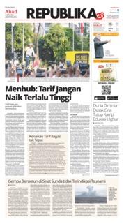 Cover Koran Republika 13 Januari 2019