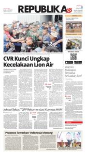 Cover Koran Republika 15 Januari 2019