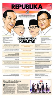 Cover Koran Republika 18 Januari 2019