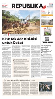 Cover Koran Republika 20 Januari 2019