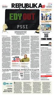 Cover Koran Republika 21 Januari 2019