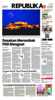 Cover Koran Republika 22 Januari 2019