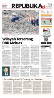 Cover Koran Republika 27 Januari 2019