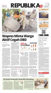 Cover Koran Republika 30 Januari 2019